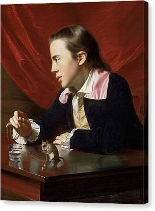 A Boy With A Flying Squirrel  Canvas Print by John Singleton Copley