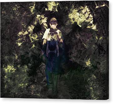 Abstraction Canvas Print - A Boys Walk by Zin Shades