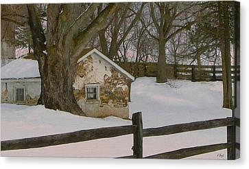A Brandywine Winter Canvas Print by Gordon Beck