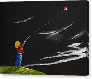 A Braw Night For Flight Canvas Print