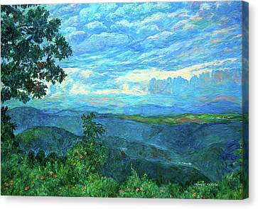 A Break In The Clouds Canvas Print by Kendall Kessler