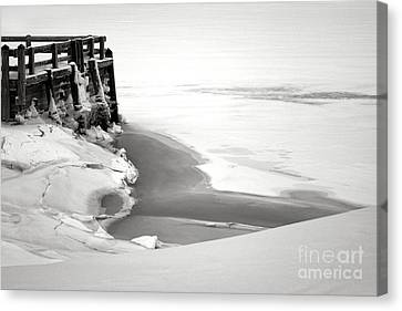 A Break In The Kennebec Canvas Print by Olivier Le Queinec