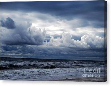 Canvas Print featuring the photograph A Break In The Storm by Linda Mesibov