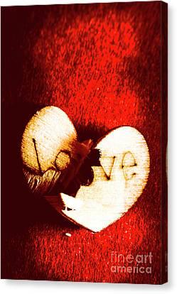 A Breakdown In Romance Canvas Print