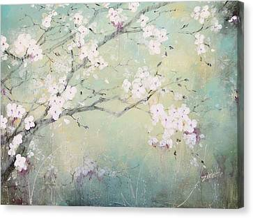 Canvas Print featuring the painting A Breath Of Spring by Laura Lee Zanghetti