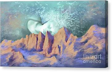 Canvas Print featuring the painting A Breath Of Tranquility by S G