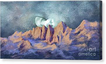 Canvas Print featuring the painting A Breath Of Tranquility by Sgn