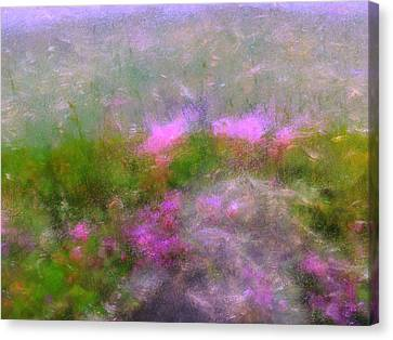 A Breeze In Monet's Garden Canvas Print by Connie Handscomb