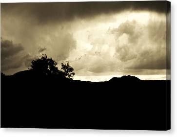 A Brewing Storm Canvas Print by Nature Macabre Photography
