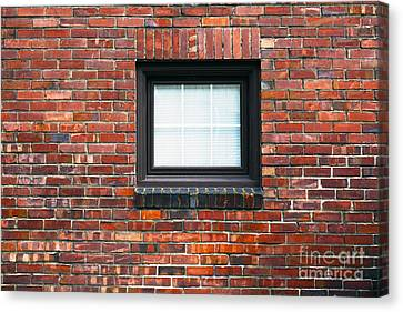A Brick Wall. Seattle Washington Usa Canvas Print