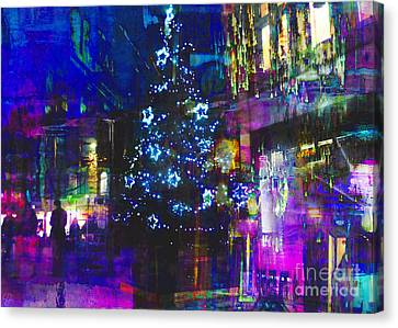 Canvas Print featuring the photograph A Bright And Colourful Christmas by LemonArt Photography