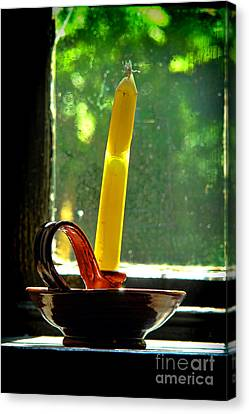 A Broken Candle Canvas Print by Olivier Le Queinec