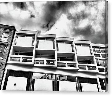 Brutalist Canvas Print - A Building Exterior by Tom Gowanlock