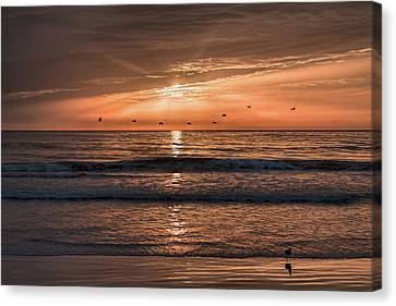 Canvas Print featuring the photograph A Burnished Sunrise by John M Bailey