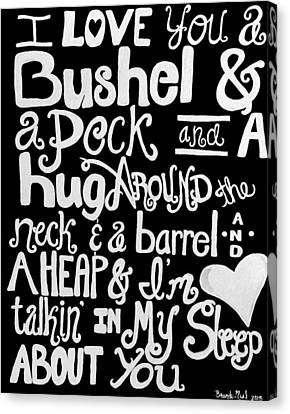 A Bushel And A Peck Canvas Print by Brandy Nicole Neal