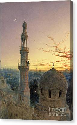 Muslims Canvas Print - A Call To Prayer by Henry Stanier