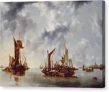 A Calm Canvas Print by Jan van de Capelle