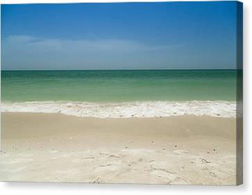 A Calm Wave Canvas Print by Christopher L Thomley