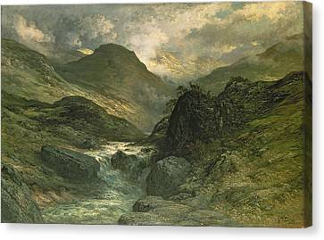 A Canyon Canvas Print by Gustave Dore