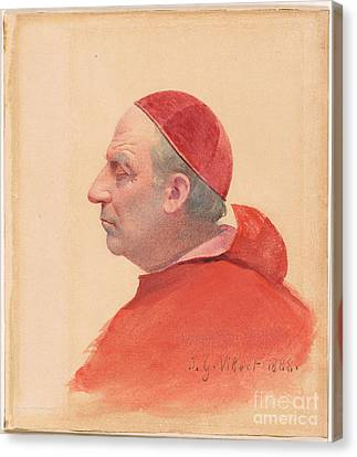 Clothed Canvas Print - A Cardinal In Profile by MotionAge Designs
