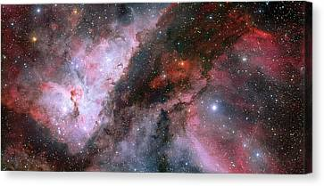 Canvas Print featuring the photograph A Carina Nebula Pano by Nasa