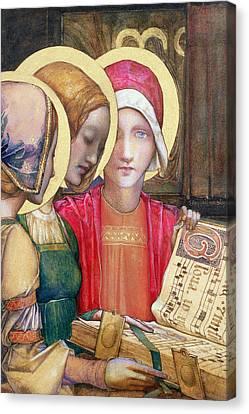 A Carol Canvas Print by Edward Reginald Frampton