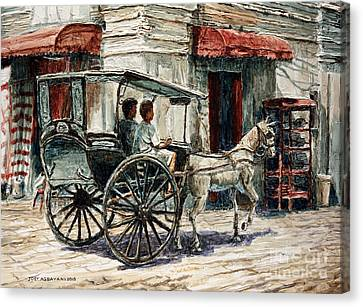 A Carriage On Crisologo Street Canvas Print