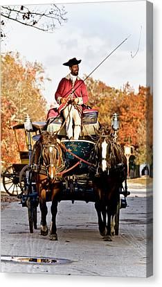 Autumn Colonial Carriage  Canvas Print