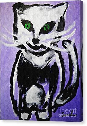 A Cat For Julia Canvas Print by Sarah Loft