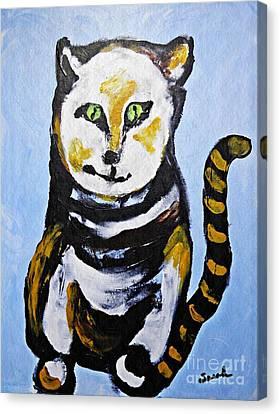 A Cat For Lynne Canvas Print by Sarah Loft