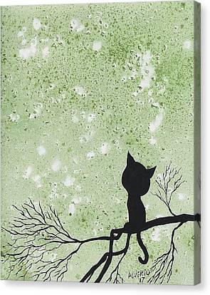 A Cat In A Tree Canvas Print