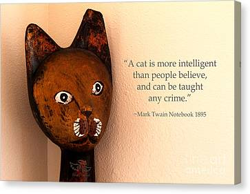 A Cat Is More Intelligent Canvas Print