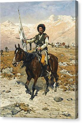 A Caucasian Chief Canvas Print by Alfred Kowalski