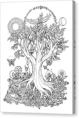 A Celebration Of Spring Canvas Print by Katherine Nutt