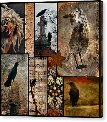 A Celebration Of Vintage Crows Canvas Print