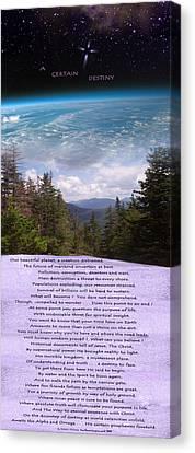 A Certain Destiny - Poster Canvas Print by Patrick J Maloney