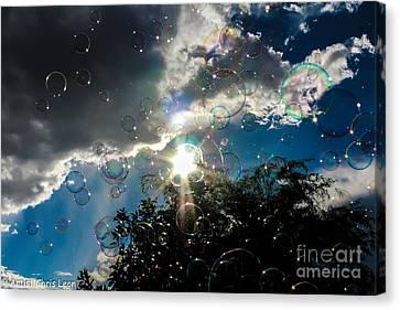 A Chance Of Bubbles Canvas Print by Chris  Leon
