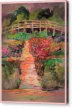 A Charming Path Canvas Print by Mindy Newman