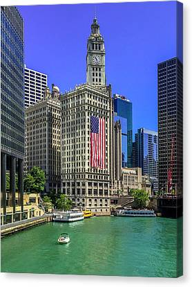 Chicago River Canvas Print - A Chicago Fourth by Andrew Soundarajan