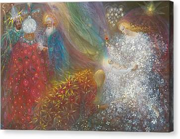 Three Kings Canvas Print - A Child Is Born by Annael Anelia Pavlova