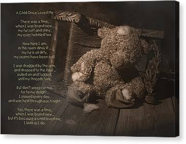 A Child Once Loved Me Poem Canvas Print by Tom Mc Nemar