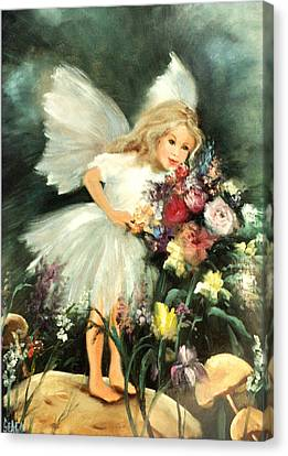 A Childs Dream Canvas Print by Sally Seago