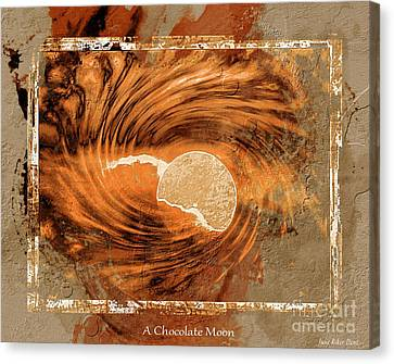 A Chocolate Moon Canvas Print