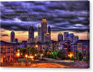 A Choice Atlanta Midtown Towers Over Atlantic Commons Art  Canvas Print