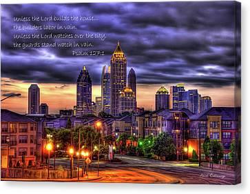 Scad Canvas Print - A Choice Atlanta Midtown Towers Over Atlantic Commons Art  by Reid Callaway