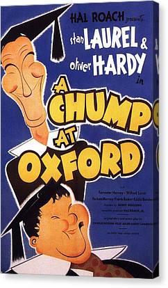 A Chump At Oxford Canvas Print