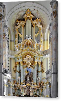A Church Filled With Music - Church Of Our Lady Dresden Canvas Print by Christine Till