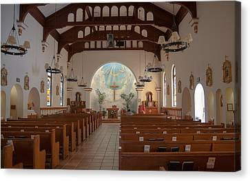 Canvas Print featuring the photograph A Church Is Really Never Empty by Monte Stevens
