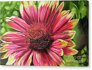 A Circular Splendor Of Summer Canvas Print