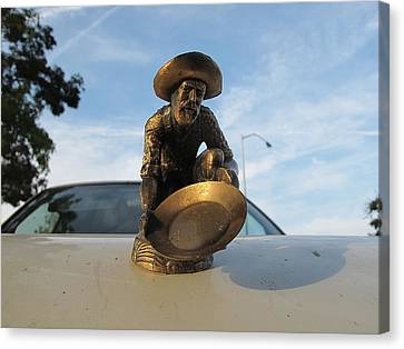 Canvas Print featuring the photograph A Classic Hood Ornament Pickup Truck by John King
